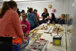 Leading a TechGirlz robotics workshop, November 2013