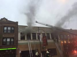 The Sept. 30 fire at Threads Etc. Resale. Photo: Allison Marach / Facebook