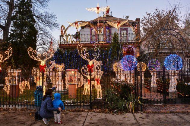 Photos: Christmas Spirit Ablaze on Logan Boulevard