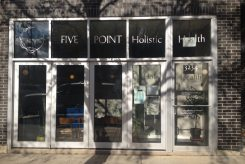 Five Point Holistic Health is offering gift bags full of herbal tea, lineaments, lip balm, and more for customers who purchase gift certificates for $75 or more.