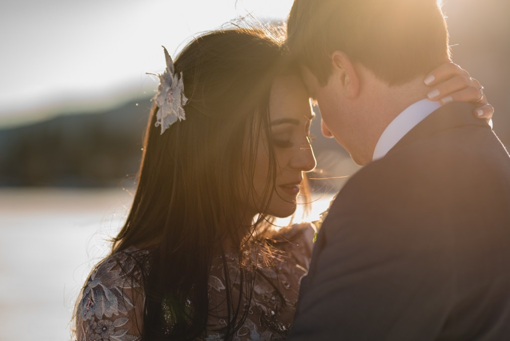 sunset whistler bride groom