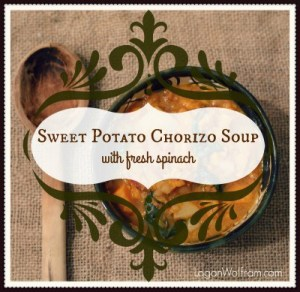 Sweet Potato & Chorizo Soup with Fresh Spinach