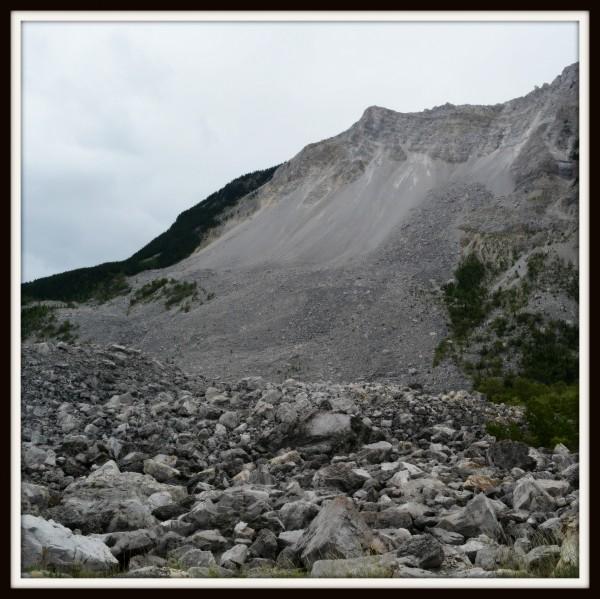 When plans crumble - rockslide