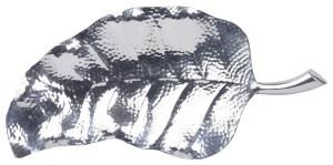 Silver leaf platter