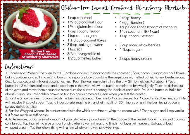 GF Coconut Cornbread Strawberry Shortcake