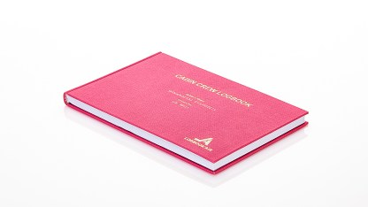 Flight Attendant Logbook Pink