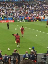 Portugal beim Warm-Up
