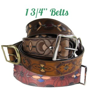 Custom Hand Tooled Leather Belts