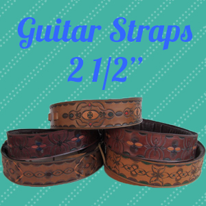 Leather Guitar Straps- 2 1/2