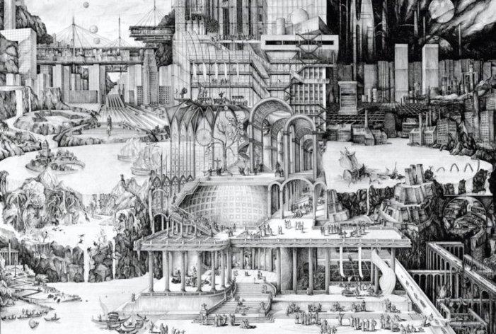 History of the Utopian Tradition - Carlijn Kingma, bron: gallery untitled..com. Wat doet een vrijmetselaar? Hij streeft naar een utopie.