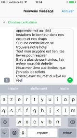 Capture d'écran extension iMessage Romance-3