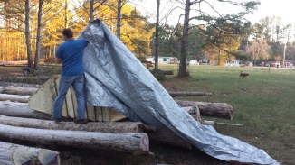 ...and cover with a tarp