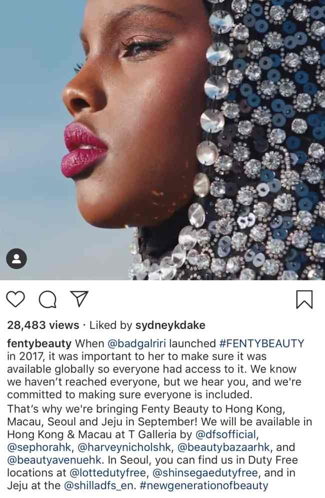 Is Fenty sold in China?