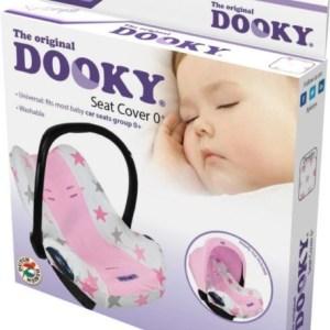 Dooky Seat Cover 0+ Roze Sterren