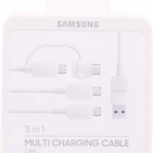 Samsung Multi Charging Cable (3x USB + 1x USB-C Adapter)- wit
