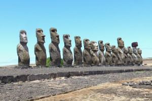 Line of Rock Statues