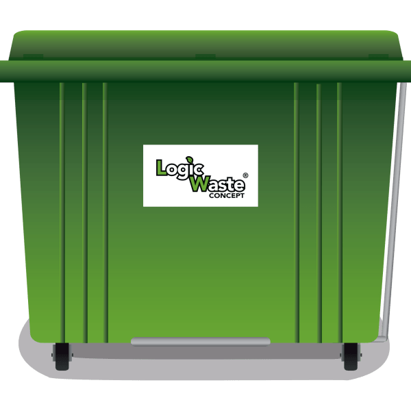 LogicWaste ® 1700 liter rolcontainer
