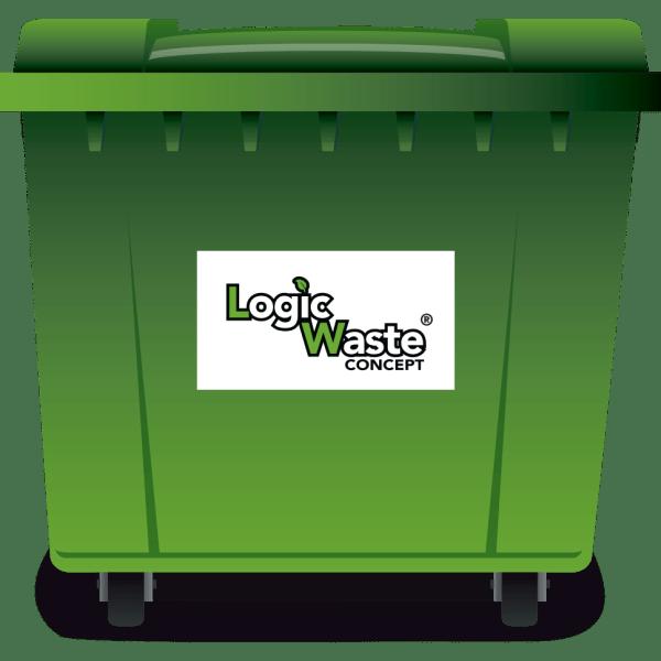 LogicWaste ® 660 liter rolcontainer