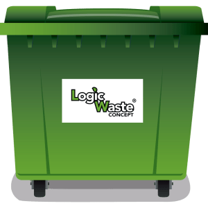 LogicWaste ® 660 liter rolcontainer