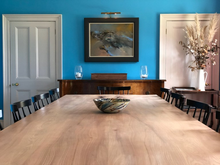 Alec's elm dining table