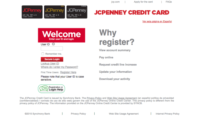 Synchrony Bank Jcpenney Credit Card Payment Address