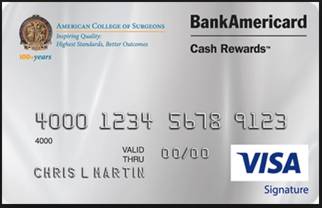 ACS BankAmericard Cash Rewards Visa