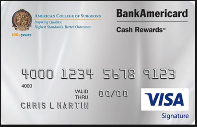 ACS BankAmericard Cash Rewards Visa