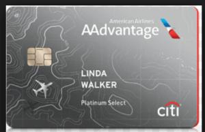 Citi AAdvantage Platinum Select credit card