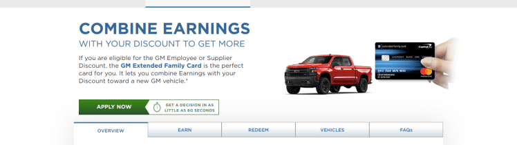 GM Extended Family Card BuyPower Card