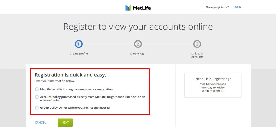 Site Registration Choose a radio for registration