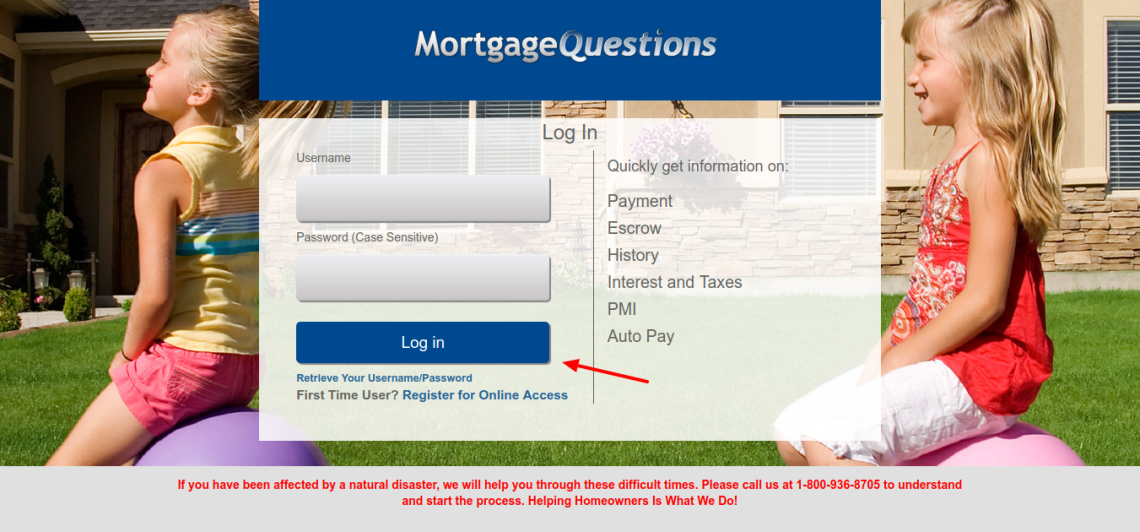 Mortgage Servicing Login