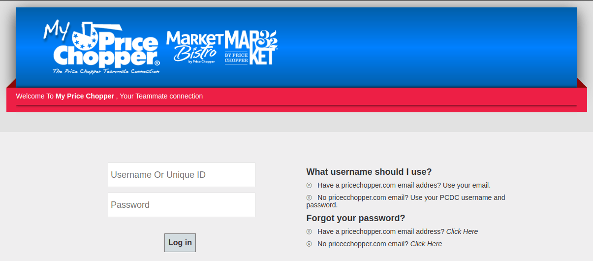 My Pricechopper Com Ways To Login Into Your Price Chopper Direct Connect Account Login Helps