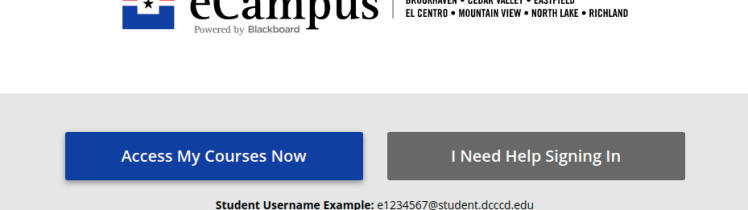 DCCCD eCampus Login