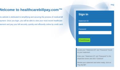 healthcarebillpay Login