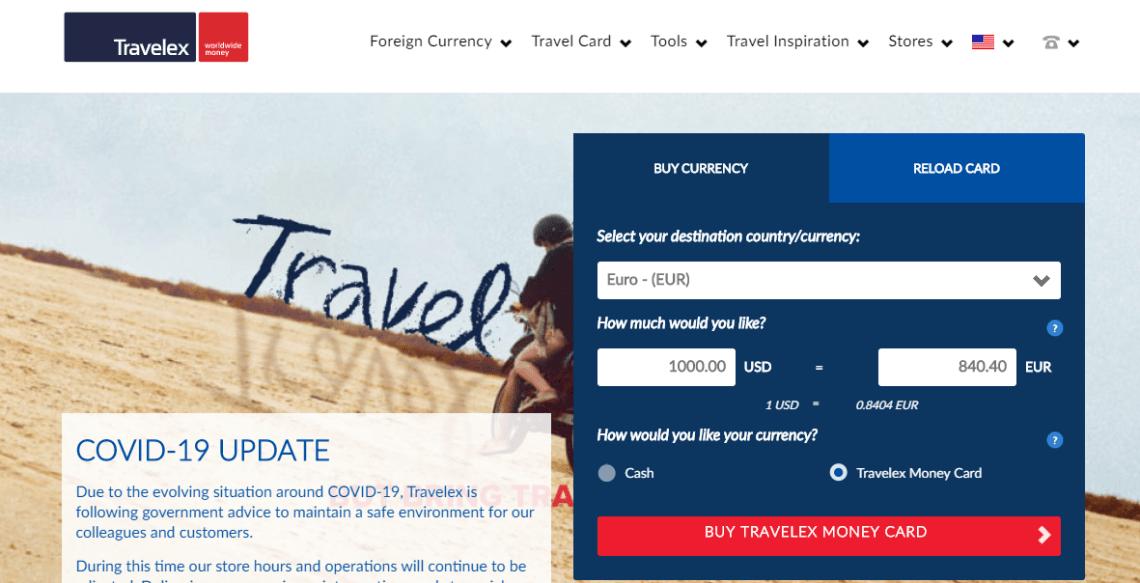 Order Travelex Money Card