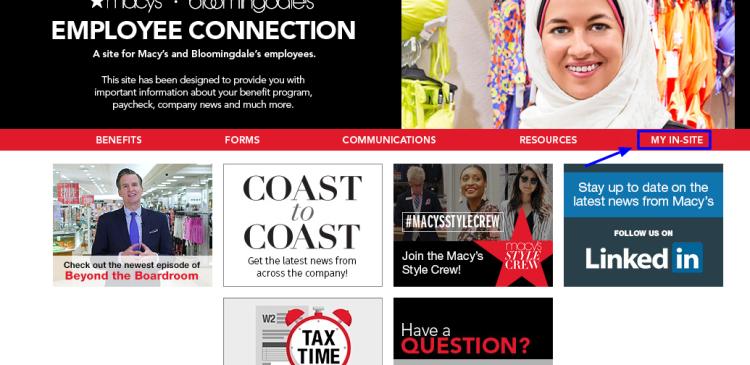 Macy's Employee Connection Portal login
