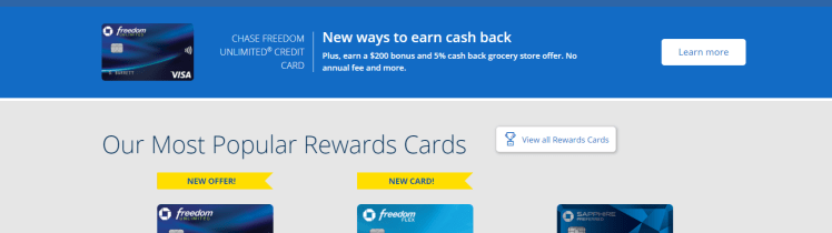 Chase Freedom card account