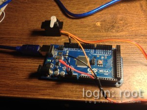 Arduino with servo