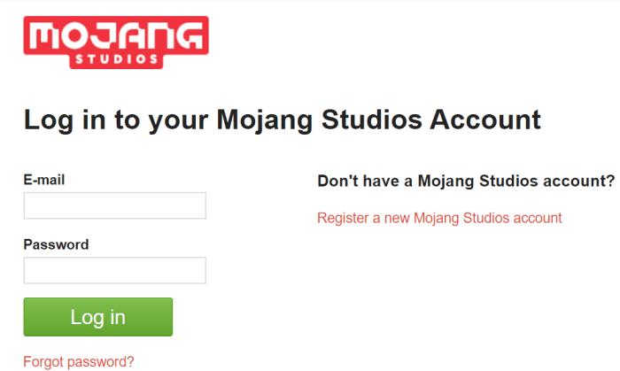 Mojang Login