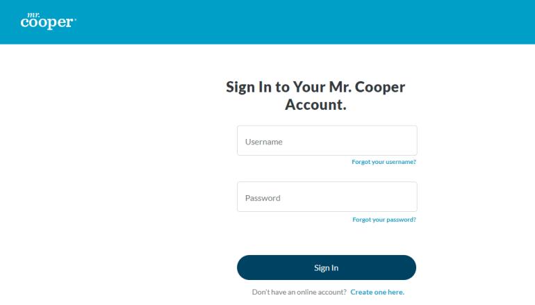 mr cooper login