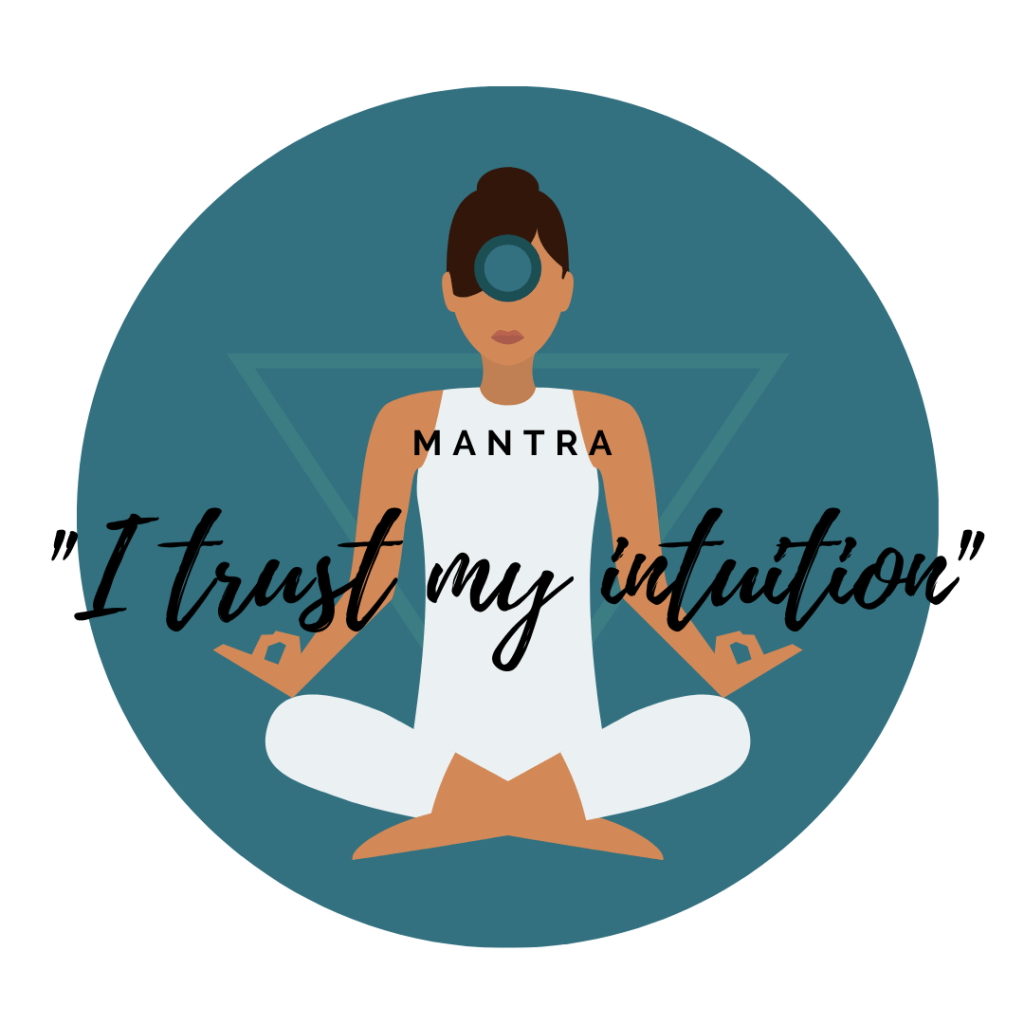 third eye chakra mantra, I trust my intuition, mantra third eye, anja chakra mantra