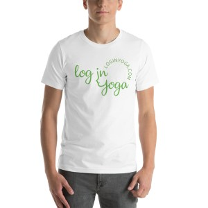 log in yoga t-shirt