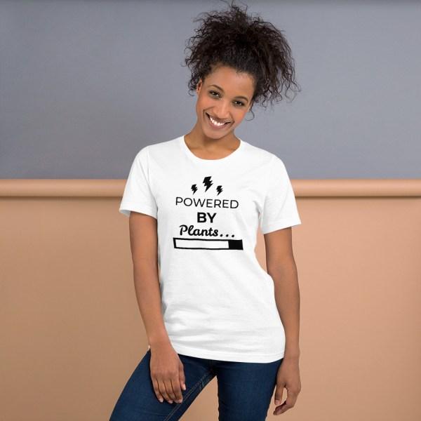 powered by plants, vegan t-shirt, vegetarian t-shirt