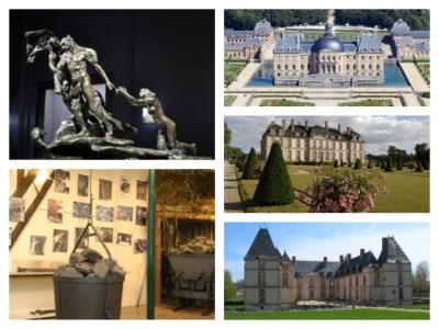 Visite de chateaux et de musées à proximité du Logis de Villegruis : Chateau de Vaux le Vicomte, Chateau de la Motte Tilly, Chateau de Réveillon, musée Camille claudel à Nogent sur Seine, Ecomusée espace patrimoine à Villenauxe la grande