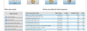 Ventes annuelles de tout la gamme du fournisseur log - Solution BI