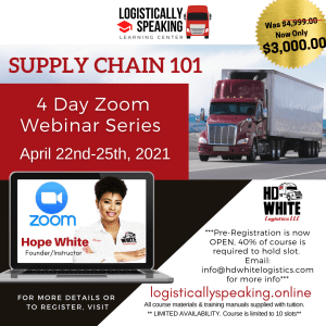 Supply Chain 101  by ZOOM (4-Day) April 22nd- 25th, 2021
