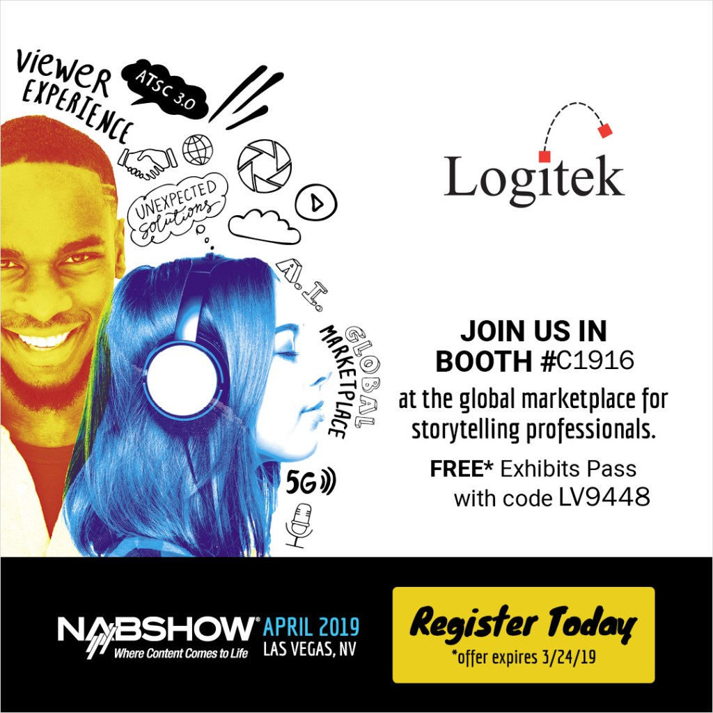 Logitek at NABShow Booth C1916