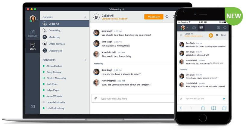 GoToMeeting Review: Dashboard