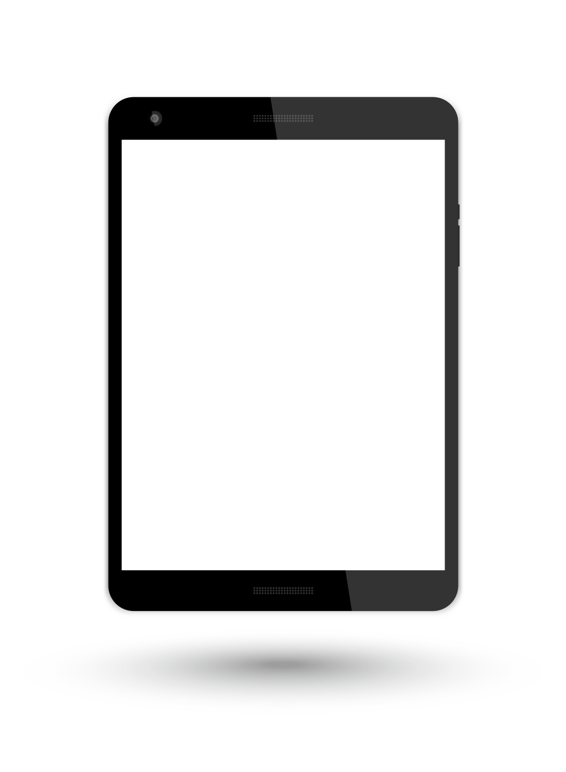 tablet isolated on transparent background