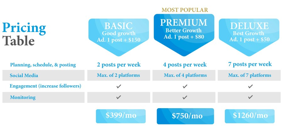 Social media mamagement package22